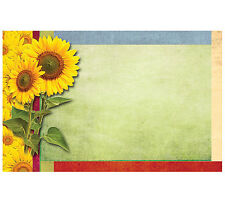 """50ct. """"Yellow Sunflowers"""" Red Yellow Blank Florist Enclosure Cards Small Tags"""