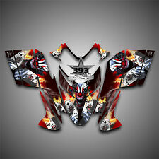 Polaris IQ RMK Shift Dragon Graphics Decal Wrap Sticker 2005-2012 Evil Joker Red
