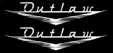 """X2 Awesome OUTLAW VINTAGE Look emblem Decal set , Looks like """"Bel Air"""" style."""