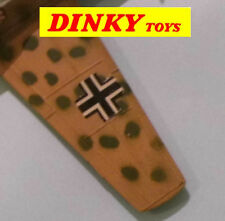 Dinky Toys Bf 109E Messerschmitt No.726 original style paper wing markings