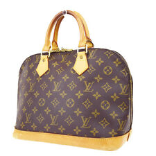 Auth LOUIS VUITTON Alma Hand Bag Monogram Canvas Leather Brown M51130 62P603