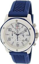 Bulova Men's Sport 98B200 Blue Rubber Quartz Watch