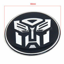1pcs Transformer Autobots 3D Alloy Car Tyre Wheel Centre Cap Cover Emblem 60mm