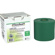 Thera-Band Exercise Resistance Band, Green - Heavy, 3 yards( LATEX FREE)