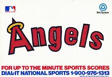 1981 CALIFORNIA ANGELS 1981 BASEBALL TICKET BROCHURE - ANAHEIM STADIUM