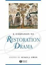 A Companion to Restoration Drama (Blackwell Companions to Literature and Culture
