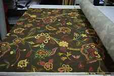 BRAEMORE JACOBEAN PRINT BROWN FLORAL 100% COTTON HOME DECOR UPHOLSTERY FABRIC