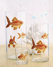 Gold Fish Decals Wallies Bubbles & GoldFish Removable Wall Glass Decor Stickers