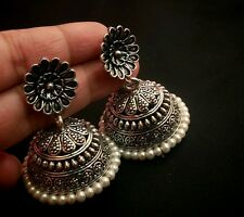 Elegant looking silver plated round jhumka earring for gossip girls,free ship