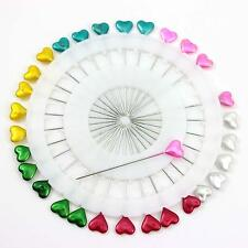 Beautiful 30pcs 5.5cm Sewing Knitting Tool Colors Heart Head Needle Pins Supply