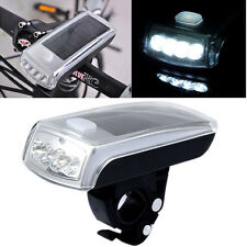 Bike Bicycle Solar Powered USB 2.0 Rechargeable Front Head Headlight 4 LED Lamp