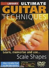 LICK LIBRARY ULTIMATE GUITAR TECHNIQUES SCALE SHAPES Learn to Play Memorise DVD