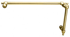 """CRL Brass Colonial Style Combination 6"""" Pull Handle With 18"""" Towel Bar"""