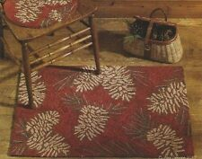 """PINECONES Country Lodge Hooked Rug, 24"""" x 36"""", by Park Designs"""