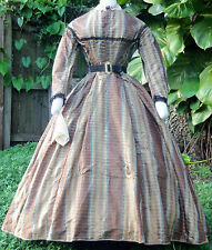 ORIGINAL CIVIL WAR ERA DAY WEDDING DRESS c.1860s w/ PROVENANCE VICTORIAN