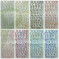 Self Adhesive Letters and Numbers Glitter & Diamante Stick On Craft Decorations