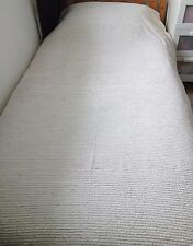 Vintage 50's, 60's Candlewick Bedspread, Single Bed Size, Plain White/Cream