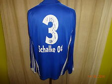 "FC schalke 04 Adidas manches longues junior matchworn maillot 08/09 ""Gazprom"" + Nº 3 taille M"