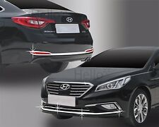 Front & Rear Bumper Fog Garnish Molding Trim 6p For 2015 Hyundai i45 : Sonata LF
