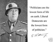 George S. Patton World War 2 WWII w/ Autograph Funny Quote 8 x 10 Photo #mf2