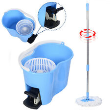 Microfiber Spinning Mop Easy Floor Mop W/Bucket 2 Heads 360 Rotating Head B