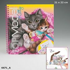Depesche CREATE YOUR TOPMODEL Kitty COLOURING BOOK Design Cats Outfits TOP MODEL