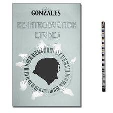 Chilly Gonzales re-introduction Etudes avec CD, piano-crayon, 9782954898803
