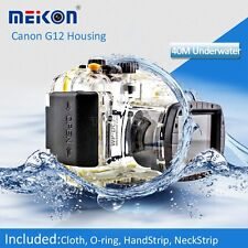 40M 130ft Underwater Waterproof Diving Housing Case for Canon G11 G12 Camera