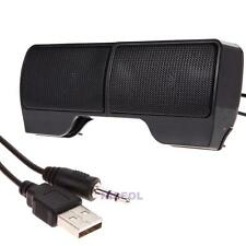 Mini Portable USB Stereo Speaker Sound bar for Laptop Notebook Cell Phone MP3