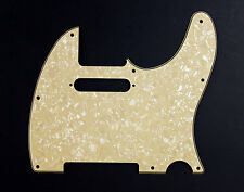 Aged White Pearl Telecaster Pickguard USA MIM Fender Tele 3 Ply AW/B/AW 8 Hole