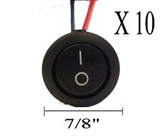 "IMC AUDIO RRS-2W— Ten 10 Pieces 12V w/ 8"" Lead Wire ON OFF Round Rocker Switch"