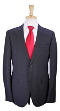* GUCCI * Very Recent Gray/Black Gingham Check 2-Btn Slim Fit Wool Suit 40R