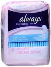 Always Thin Pantiliners Regular Unscented 20 Each (Pack of 7)