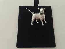 "D13 Jack Russell Terrier on a 925 sterling silver Necklace Handmade 16"" chain"