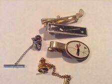Set of 5 Golf themed Tie Clasps and Tie Tacs