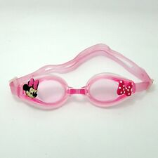 Pink Anti-Fog Silicone Swimming Diving Goggle+Charms Minnie Butterfly Tie Gifts