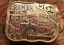 Red Bluff Buckles Ramah Navajo Rodeo Champion Western Trophy Belt Buckle 2010