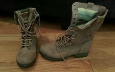 RARE BONGO Tracey Combat Boots [30485] Women's Size 5 w  Brown wear up or down