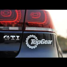 White Reflective Top Gear Car Sticker  Funny JDM Window Sticker Vinyl Decal