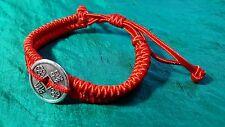 New Chinese Luck Wealth New Year Red Adjustable Bracelet Fixed I-Ching Coin.  j8