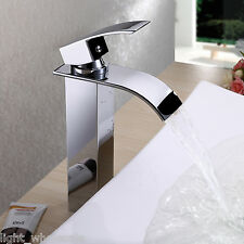2016 Single Handle Tall Waterfall Basin Mixer Tap Vessel Bathroom Sink Faucet