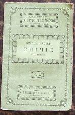 Biblio. PHILIPPART vers 1860 CHIMIE simple facile M. E. BEDE illustré BE 5e éd.