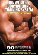 Joe weider's bodybuilding training system dvd mega edition set poids bench