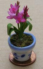 1:12 Escala Purple Orchid & pot Casa de muñecas en miniatura Jardín Flores Accesorios 32
