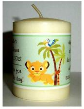 14 LION KING BABY SIMBA BABY SHOWER FAVORS VOTIVE CANDLE LABELS