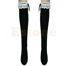 Ribbon Lace Top Stockings Thigh-Highs Over Knee Lolita Socks Girl's Cosplay