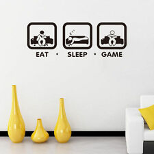 Eat Sleep Game Kids Bedroom Games Room Art Vinyl Wall Sticker Art Decals