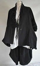 WOW; GERMAN  CHAMPAGNE BLACK LAGENLOOK parachute COAT SIZE L/XL