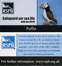 RSPB Pin Badge | Puffin | Safeguard our sea life Campaign [00737]