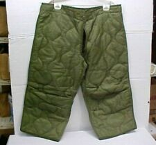 New Military Surplus Insulated Nylon Field Pants Liners, Army Cold Weather Gear